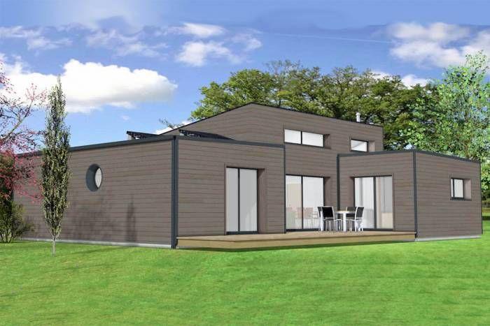 maison architecte design arcadial toit plat monopente Maison bois