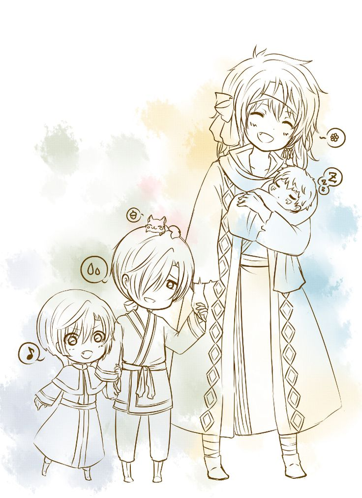 OMYGOODNESS!!!! THIS IS SO CUTE!!!! Zeno with little Jae-ha and Kija and BABY SHIN-AH!!!! <3<3<3<3