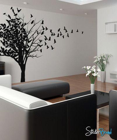 Vinyl Wall Decal Sticker Birds In Tree #MCrespo102 | Stickerbrand Wall Art  Decals, Wall Part 82