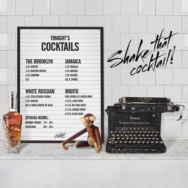 Poster - Cocktails 50x70 cm