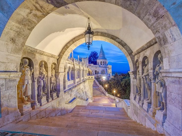 """With some of the best Art Nouveau architecture in Europe, scenic Budapest has no bad angles. Széchenyi Chain Bridge offers magnificent views of the Danube River—especially at night. Moreover, it's the only capital city in the world that's rife with healing, thermal waters (hence its nickname, """"The City of Baths""""). —K.L."""