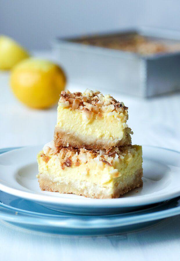 Toasted Coconut Lemon Squares | Ruled Me
