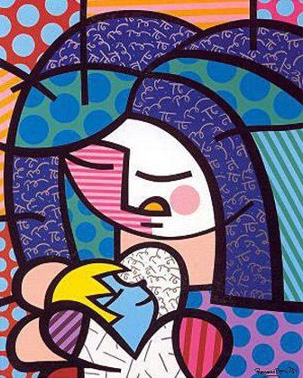 Romero Britto - Mother and Child, via Flickr.