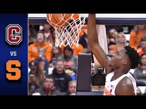 Syracuse vs. Colgate Men's Basketball Highlights (2016-17) - YouTube