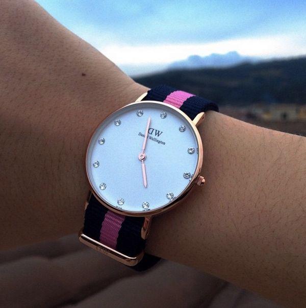 Bracelet interchangeable nato sur cette montre wellington