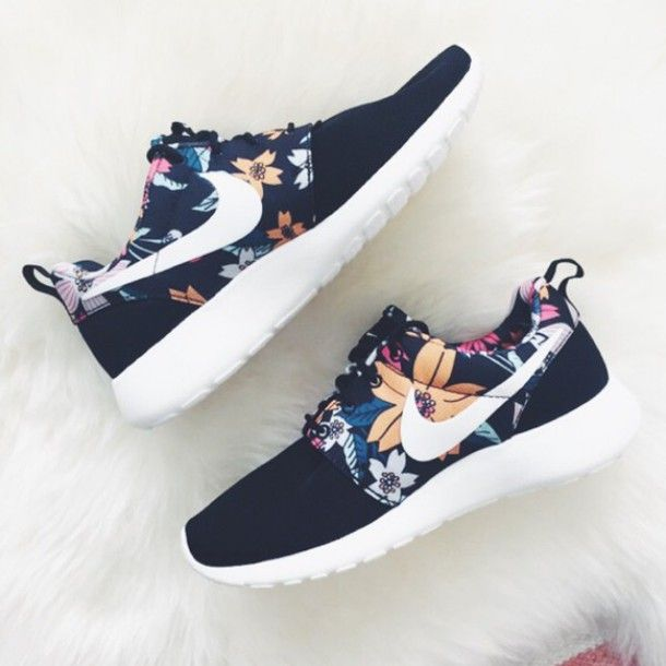 shoes nike shoes nike tumblr just do it joggers sneakers run nike roshes floral