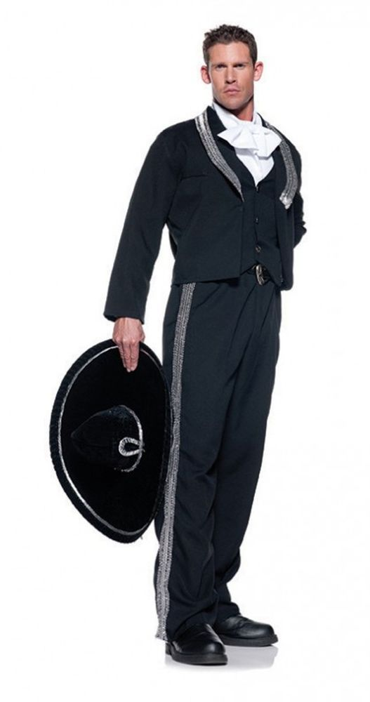 Black Mariachi Mexican Man Singer Charro Cinco De Mayo Adult Men's Costume Std #Underwraps #Completecostume