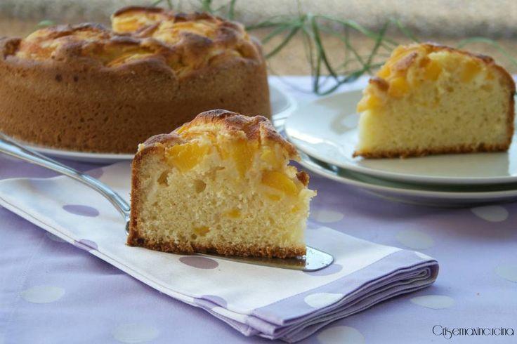 TORTA ALLE PESCHE #torte #dessert #colazione #ricettecolazione #tortapesche…