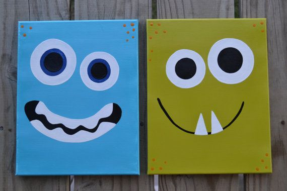 Monster Nursery Art  Play Room Decor  11 x 14 Large by MaddiesMomE, $45.00