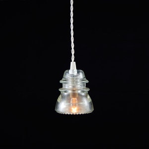 I have one of these old electric insulators so I can theoretically make this light myself, as a pendant light over the kitchen sink. I hope.
