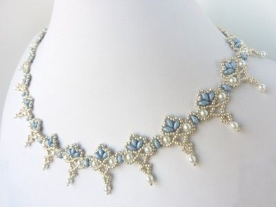 FREE beading pattern for necklace Twin Floret Lace