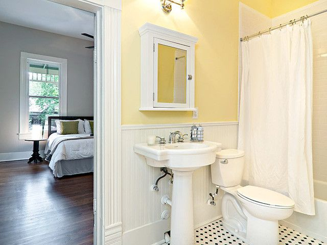 Exceptionnel Traditional Bathroom | Powerful And Pretty Yellow Bathroom Design