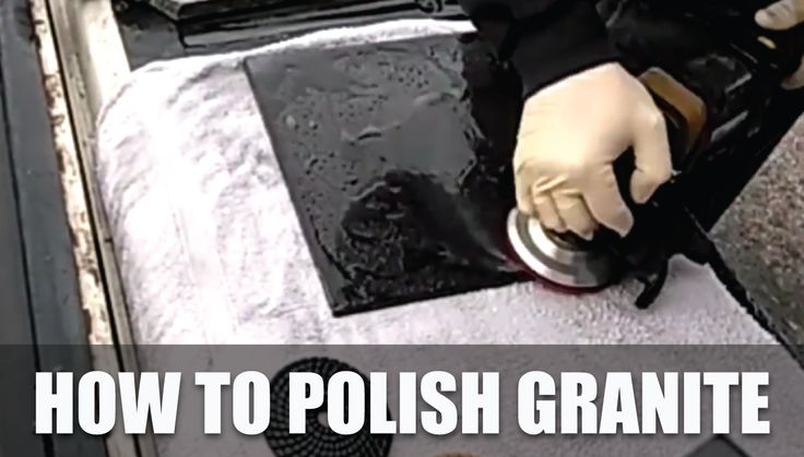 How to Polish Granite   Learn how to polish Granite surfaces and edges using diamond polishing pads and stone wet polisher. Polishing granite needs basic skill and right tools for the professional finish. Granite countertop and edges needs repair and polishing over time.