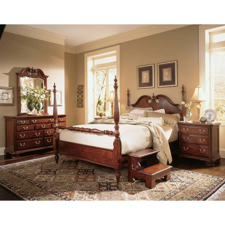 Cherry Grove Low Poster Bed in Classic Antique Cherry Traditional Century  Style Beautiful Antique Cherry Finish Cherry Veneers Over Hardwood Solids  Broken ... - Best 25+ Cherry Wood Bedroom Ideas On Pinterest Cherry Sleigh