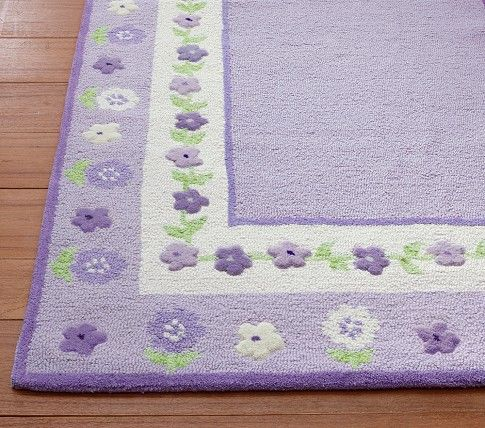 Floral Border Rug | Pottery Barn Kids