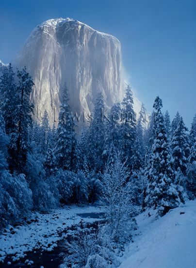 El Capitan and the Merced River, winter, Yosemite National Park, California