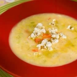 The pride of the Midwest, this super soup combines beer and sharp Cheddar with milk (or cream), chicken broth, finely diced vegetables, mustard, Worcestershire sauce, hot pepper sauce, and Cayenne.