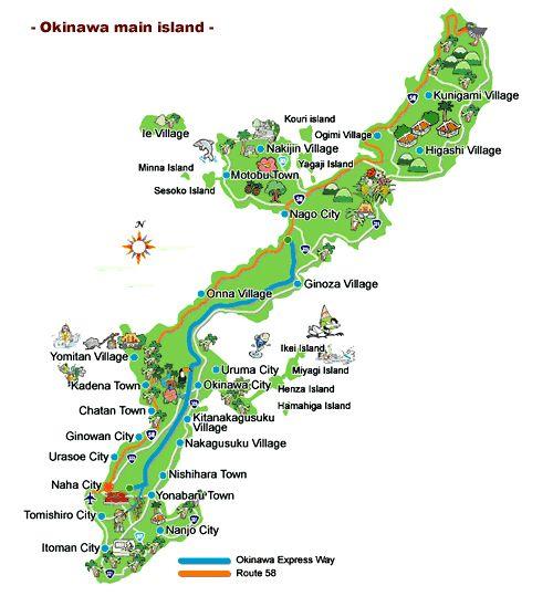 Top 10 Attractions on Okinawa (plus Okinawa island map)
