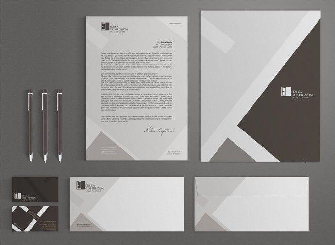 Attraverso l'ideazione del set stationery con carta intestata, cartelline, envelope e biglietti da visita, è stata sviluppata l'immagine coordinata dell'azienda. #corporateidentity #immaginecoordinata #GRAFFIOBrand