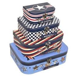 Kids Mini Suitcase Set - Bobble Art - Star and Stripes