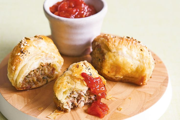 Create posh party food with a grown-up, spiced pork version of the classic sausage roll.
