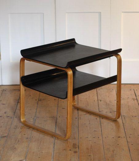 Alvar Aalto; #915 Molded Birch Side Table for Paimio Sanatorium, 1932.