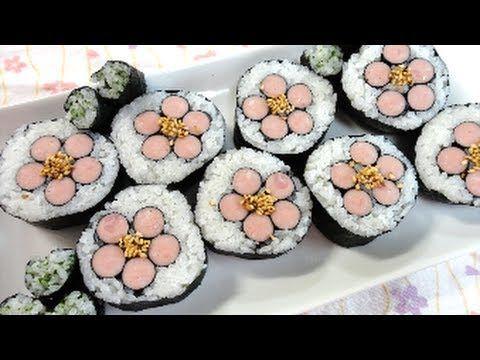 Sakura Sushi roll Recipeさくらの巻き寿司の作り方(レシピ)