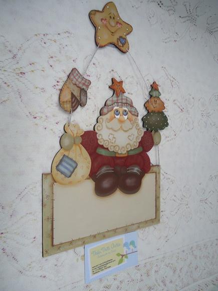 Plaquinha Papai Noel Feliz Natal R$42,00