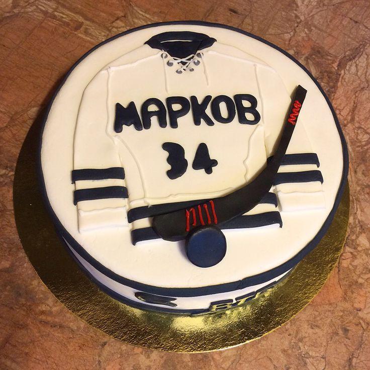 """Торт """"Хоккей"""". Внутри шоколадный торт с трюфельным кремом. 2 кг. + украшения."""