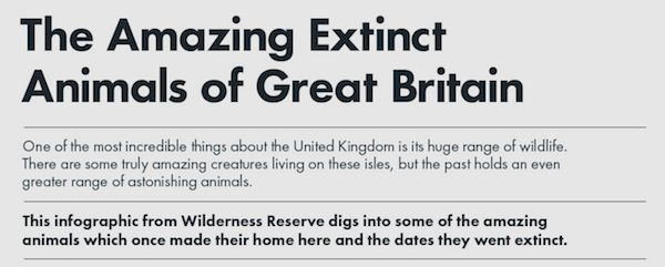 Awesome animals that have gone extinct in Great Britain (9 Photos) : theCHIVE
