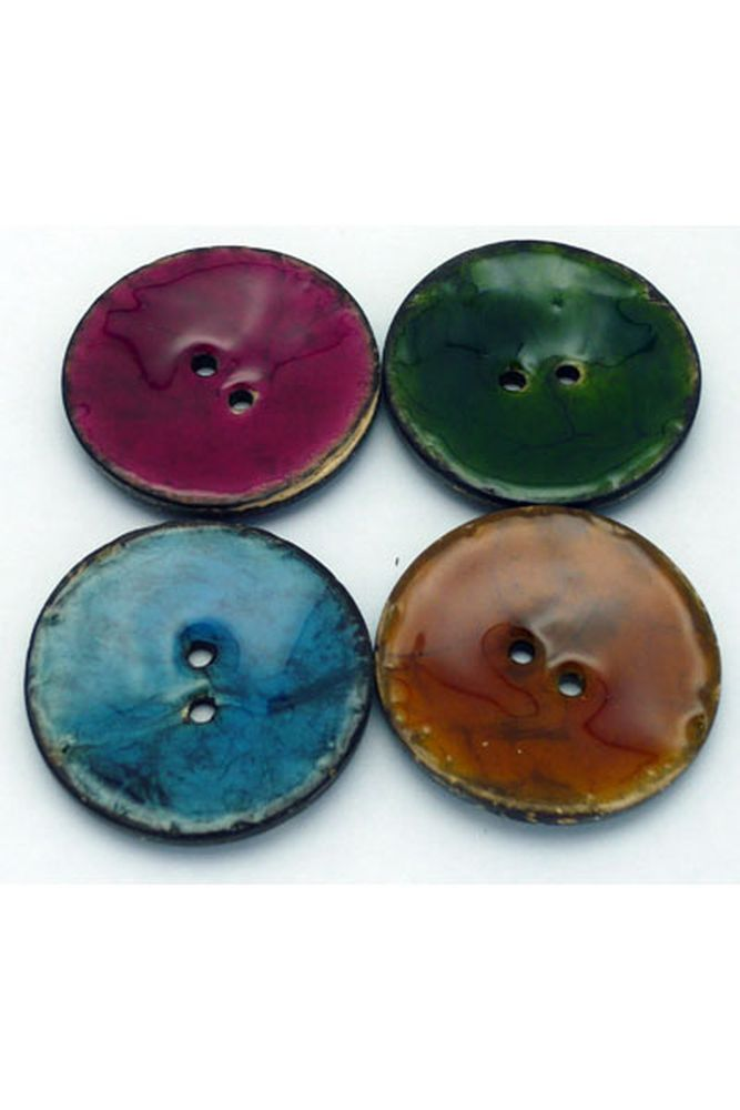 Coconut Resin Button - 38mm