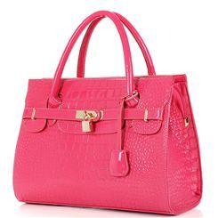 Fashion Elegant Croco Design Lady's Handle Bag