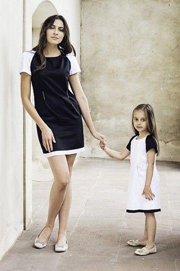 Czarno-biała sukienka dziecięca BELLA/062013/W