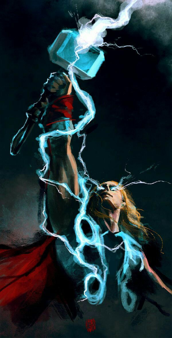2459 best marvel asgard images on pinterest cartoon art - Thor art wallpaper ...
