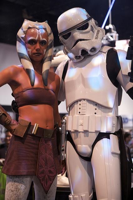 Ahsoka and Stormtrooper by Official Star Wars Blog, via Flickr