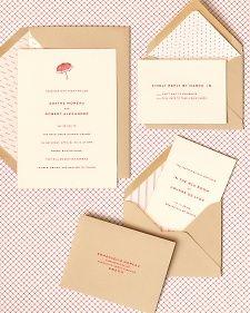 Wedding Stationary Envelope Liner DIY