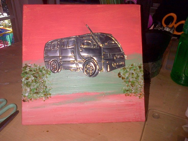 PEWTERED SOUTH AFRICAN TAXI