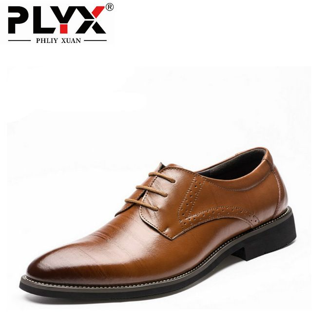 Big Sale $23.99, Buy PHLIY XUAN 2017 Man Flat Classic Men Dress Shoes Genuine Leather Wingtip Carved Italian Formal Oxford Plus Size 38-48 For Winter