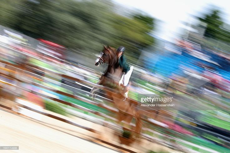 Pedro Veniss of Brazil rides Quabri De L'Isle during the Team Jumping on Day 11 of the Rio 2016 Olympic Games at the Olympic Equestrian Centre on August 16, 2016 in Rio de Janeiro, Brazil.