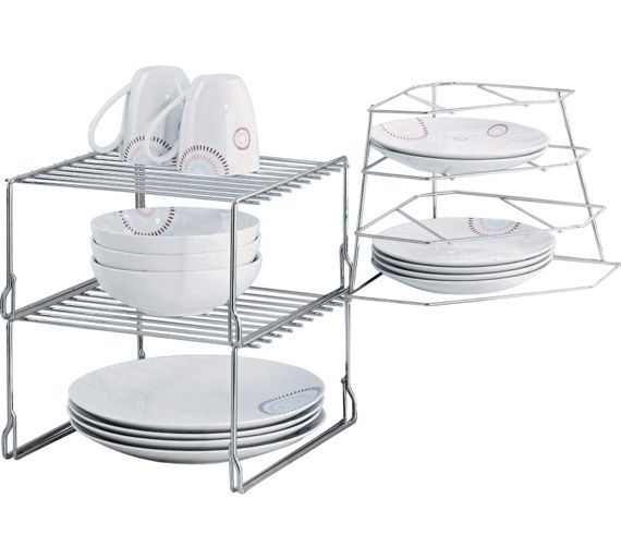 Buy HOME Steel Cupboard Storage Solution at Argos.co.uk - Your Online Shop for Racks, shelves and stands, Kitchen storage, Cooking, dining and kitchen equipment, Home and garden.