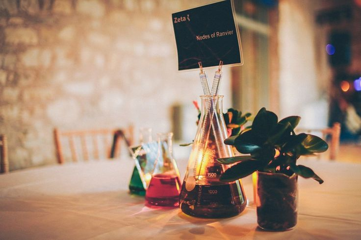 Two scientists and their bright, colourful and quirky science lab inspired wedding. Images by Summer Neverland Photography.