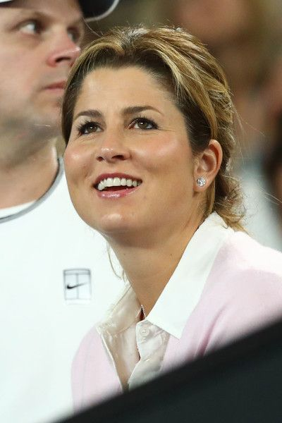 Mirka Federer Photos Photos - Mirka Federer watches the Men's Final match between Roger Federer of Switzerland and Rafael Nadal of Spain on day 14 of the 2017 Australian Open at Melbourne Park on January 29, 2017 in Melbourne, Australia. - 2017 Australian Open - Day 14