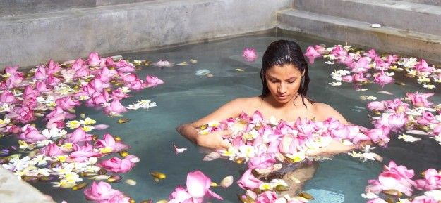 When you float amidst a bath of sweet smelling flowers… | When Relaxing Means Spa