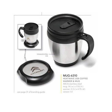Heatwave USB Coffee Warmer & Mug | Corporate Gifts by inMotion Promotions