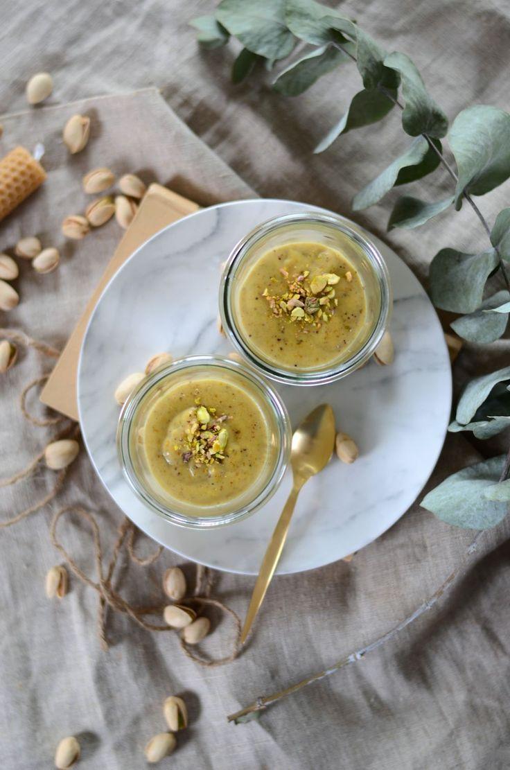 Crème dessert à la pistache {recette végétarienne et sans gluten}