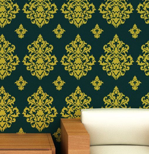 Stencil Designs For Walls best 25+ large wall stencil ideas on pinterest | wall stenciling