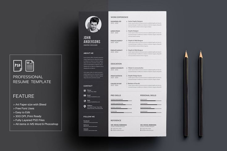 resume  cv by deviserpark on  creativemarket