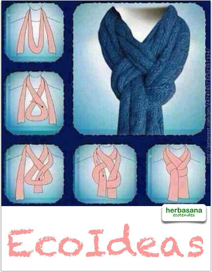 Bonita forma de atarse un pañuelo