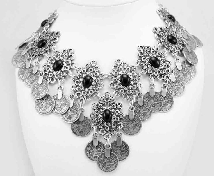 Turkish silver zamak necklace.  Model A1094.  Part of collection 94.