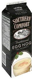I need my eggnog in December and this is the best easy to find one I know of.  Southern Comfort Egg Nog in the black container (there are other flavors in different carton colors) is delicious.  Sprinkle some nutmeg on top and done!  Our whole foods also carries local eggnog in a glass bottle that might top even Soco, but harder to come by and local, so not accessible to everyone.